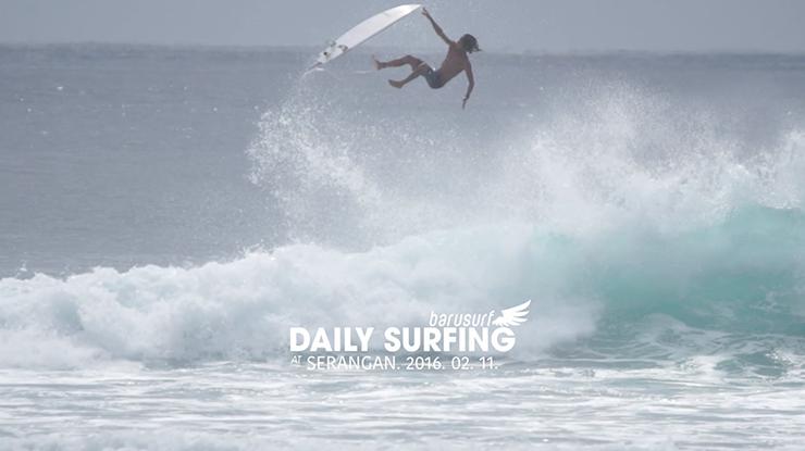 [서핑영상] 스랑안 펌핑웨이브. 발리서핑 2.11